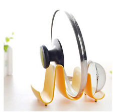 Pot Pan Spoon Lid Storage Stand Holder Rack Utensil Cooking Tool Kitchen Wave GY