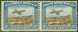 S.W.A 1931 3d Brown & Blue SG86 Fine Mtd Mint