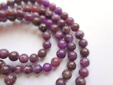 4mm Round Natural Lepidolite Semi Precious Gemstone Beads - Half Strand