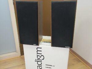 Paradigm model 5 Speaker Vintage Bookshelf speakers with Box & manual