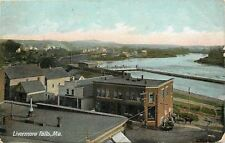 Livermore Falls ME Wagons Backed Up To Furinture? Store~Seawall 1912 Postcard