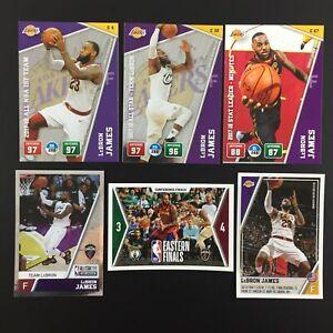 Lebron James Lot 3 Stickers + 3 Adrenalyn Cards NBA Panini 2018 2019 (18-19)