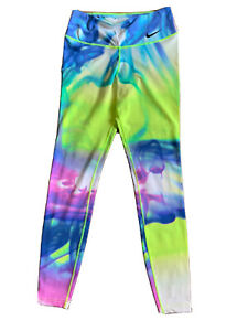 Nike Dri-Fit Leggings Small Multicolor Tie Dye S Yoga Pants Full Length