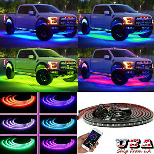 RGB Wireless Control Chassis Underbody Underglow Lamp Neon LED Atmosphere Light