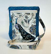 Quilted Peacock Purse / Messenger Bag Adjustable Strap Crossbody or Shoulder NEW
