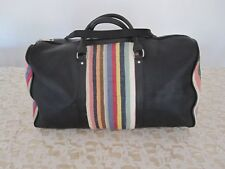 Super sac de voyage en cuir à bandoulière, noir, neuf