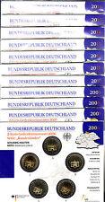 komplette Sammlung 2 Euro Gedenkmünzensets 2006 - 2016 in st Original VfS