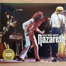 2CD NEW SEALED - NAZARETH - BAD BAD BOYZ - Rock Pop Music 2x CD Album & Poster