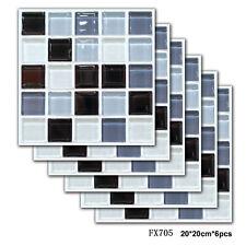 6pcs Self-adhesive Mosaic Tile Floor PVC Wall Sticker Kitchen Ceramic Home Decor