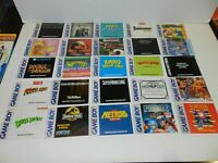 Nintendo Game Boy Game Manual Booklet Instructions You Pick & Choose Video Games