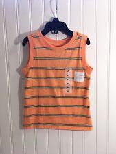 Old Navy toddler boys sleeveless top Orange w stripes Size 2T  NWT