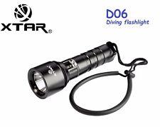 XTAR D06 Cree XM-L2 U2 LED 900 Lm 100M Diving Flashlight Torch