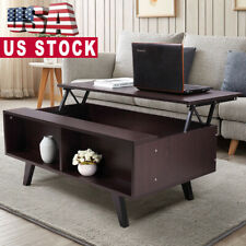 Lift Top Coffee Table w/2 Hidden Compartment Storage Shelf Living Room Furniture