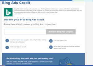 $100 Bing Ads & $100 Google Ads = $200 Ads Credit - Mandatory Hosting Required