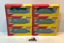 HORNBY 00 GAUGE - R6787 - RAILROAD BP GREEN TANKER WAGONS X 6 - NEW BOXED