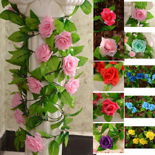 2x 8ft Seidenblumen Efeuranke Blumenranke Rosen Kunstblumen Blumen Girlande Deko