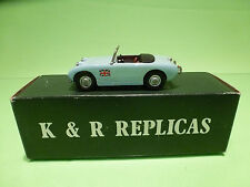 K & R REPLICAS - AUSTIN HEALEY SPRITE MK1  - 1:43  - IN BOX  - GOOD CONDITION