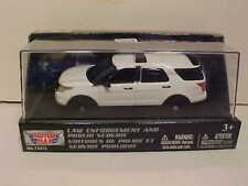 2015 Ford Explorer Police Interceptor SUV Diecast Car 1:43 Motormax 5 inch White