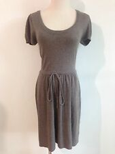 BCBG MAX AZRIA Scoop Neck Sweater Dress Light Brown/Taupe Heather Size S