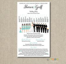 50 Customized Personalized Wedding Program