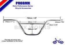 ProBMX Retro BMX Cruiser Ch-Mo Handlebars Old School Style Chrome