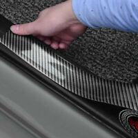 Zubehör Kohlefaser Autotürplatte Schwellerabdeckung Anti Scratch Aufkleber