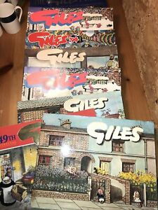 Lot of 8 GILES annuals Mixed, See Photos