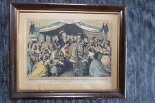 Kellogg & Comstock Antique Print Washington's Reception By The Ladies at Trenton