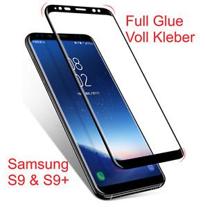 Voll Kleber Schutzglas Samsung für S9+ Plus Full Glue Displayschutzglas Hartglas
