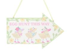 Gisela Graham Easter Decoration Egg Hunt Plaque Hanging Sign