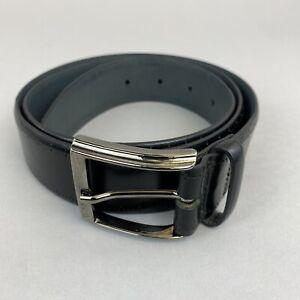 "Boss Hugo Boss Cosimon Black Cowskin Trouser Dress Belt Size 90/34  39"" Long"
