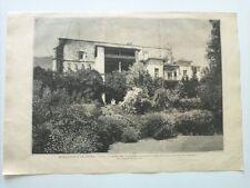 1885 Xilografía: Monasterio de Yuste El Palacio Residencia Emperador Carlos V