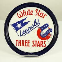 White Star Leopold Emaille Tablett Bier Brauerei Beer Tray Belgium 1920-40