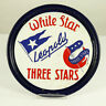White Star Leopold Emaille Tablett Bier Brauerei Beer Tray Belgium 1920-40