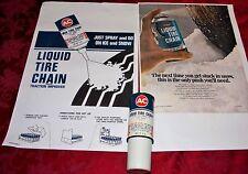 Liquid Tire Chain Refill Can Posters 1969 Camaro SS Z28 Yenko Chevelle LS6 Nova