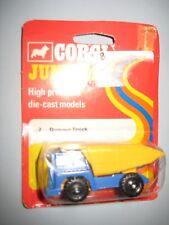 Diecast Corgi Juniors Blue Yellow Dumper Dump Truck Toy Made  Great Britain 1973
