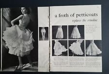 1952 a froth of women's petticoats replaces crinoline vintage slip fashion ad
