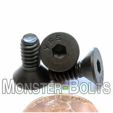 "#10-24 x 1/2"" - Qty 10 - FLAT HEAD Socket Cap Screws - Alloy Steel Black Oxide"