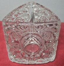 """Vintage 1980 Avon """"Personally Yours"""" Embossed Votive/Tea Light Candle Holder"""