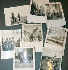 8 Fotografie GUERRA 1936 Regio Esercito ALPINI Esercitazioni GaF? Fernet Branca