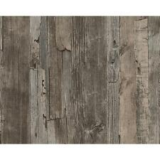 NEW AS CREATION DISTRESSED DRIFTWOOD WOOD PANEL FAUX EFFECT EMBOSSED WALLPAPER
