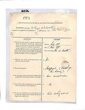 HL436 GB 1900 storico GPO applicazione JOB ufficiale Leeds Un allievo nell'ufficio postale