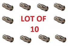 10 PCS Quick Fit F Type Male to Female Push-On Connector Adapter COAX TV CA