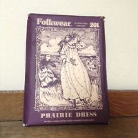 Vtg Folkwear Pattern Patterns From Times Past 201 PRAIRIE DRESS 1978 sm med lrg