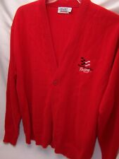 Vintage TODD Western Auto NASCAR Racing Red Button Sweater RARE XL EMBROIDERED