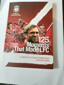 2 Liverpool FC Books 125 Moments That Made LFC  & Inside Anfield illustrated