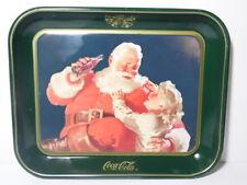 VINTAGE 1983 COCA COLA POP SODA ADVERTISING TRAY COKE SANTA CLAUS & LITTLE GIRL