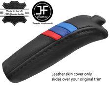 BLACK STITCH M STRIPE HANDBRAKE HANDLE LEATHER COVER FOR BMW 5 SERIES E39 95-03