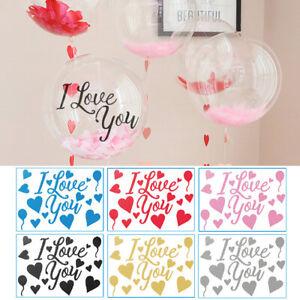 3Pcs Balloon Stickers Love Wedding Valentine's Day Decorative Air Balloon Decals