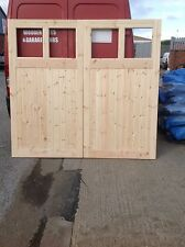 wooden garage doors 7ft high x 8 ft wide, high lite range
